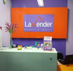 meja bimbel sbmpt lavender